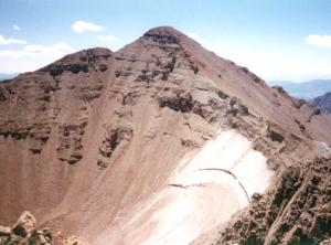 Castle Peak seen from Conundrum