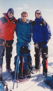 Me, Pete and our German friend on the Mont Blanc summit