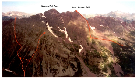 My Bell routes seen from Pyramid