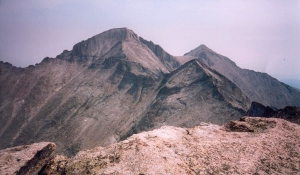 A view of Pagota, Keyboard of the Winds, Longs, and Meeker, taken from Chiefs Head summit