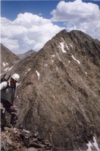A view of Ice Mountain NW Ridge