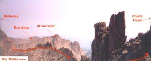 A view back down the ridge toward Stone Man Pass