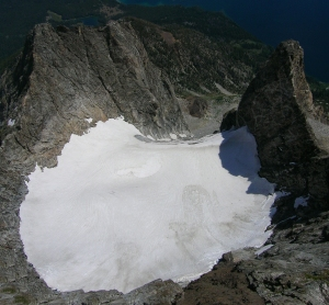 U-shape seen from near summit