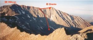 My descent from El Diente