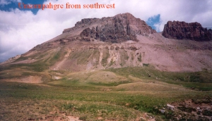 A view of Uncompahgre from the south, while hiking around to the east