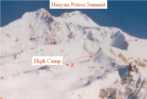 From High Camp, we ascende the headwall and moved to the far side of the summit to find the summit ridge