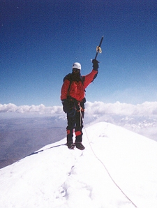 Me on the Illimani summit (21,122') 6/23/99