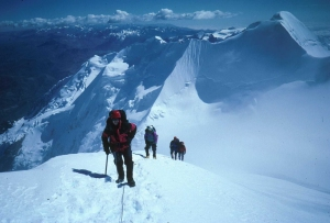 The Illimani summit ridge....just a few more steps!