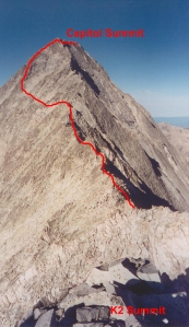 A view from K2...my route noted in red