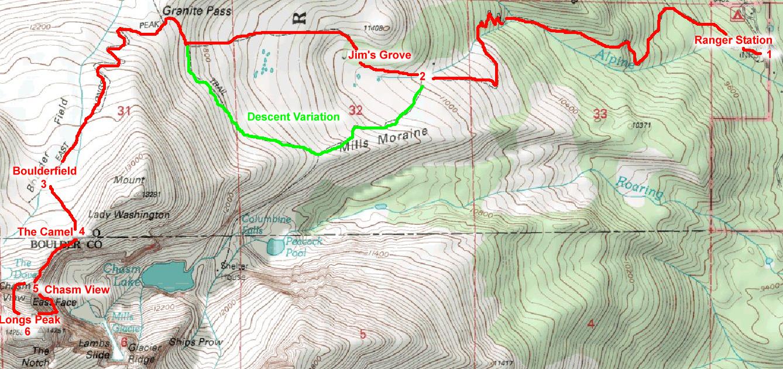 My First 14er Longs Peak via The Diamond PeakMind