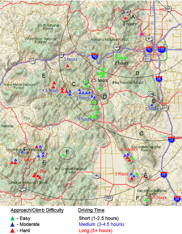 Colorado Ers Map Images - 14ers map us