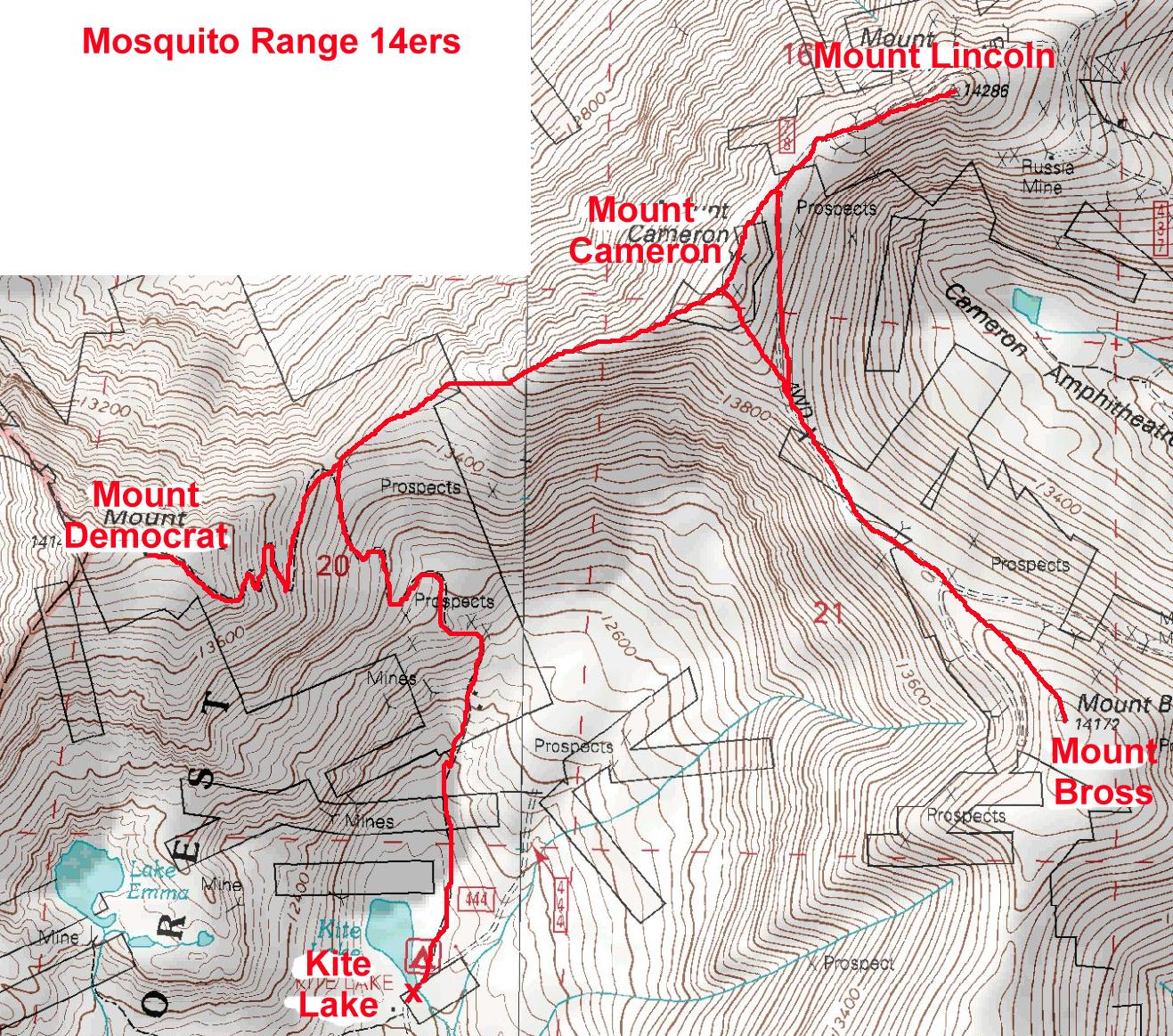 Ers PeakMind - 14ers map us