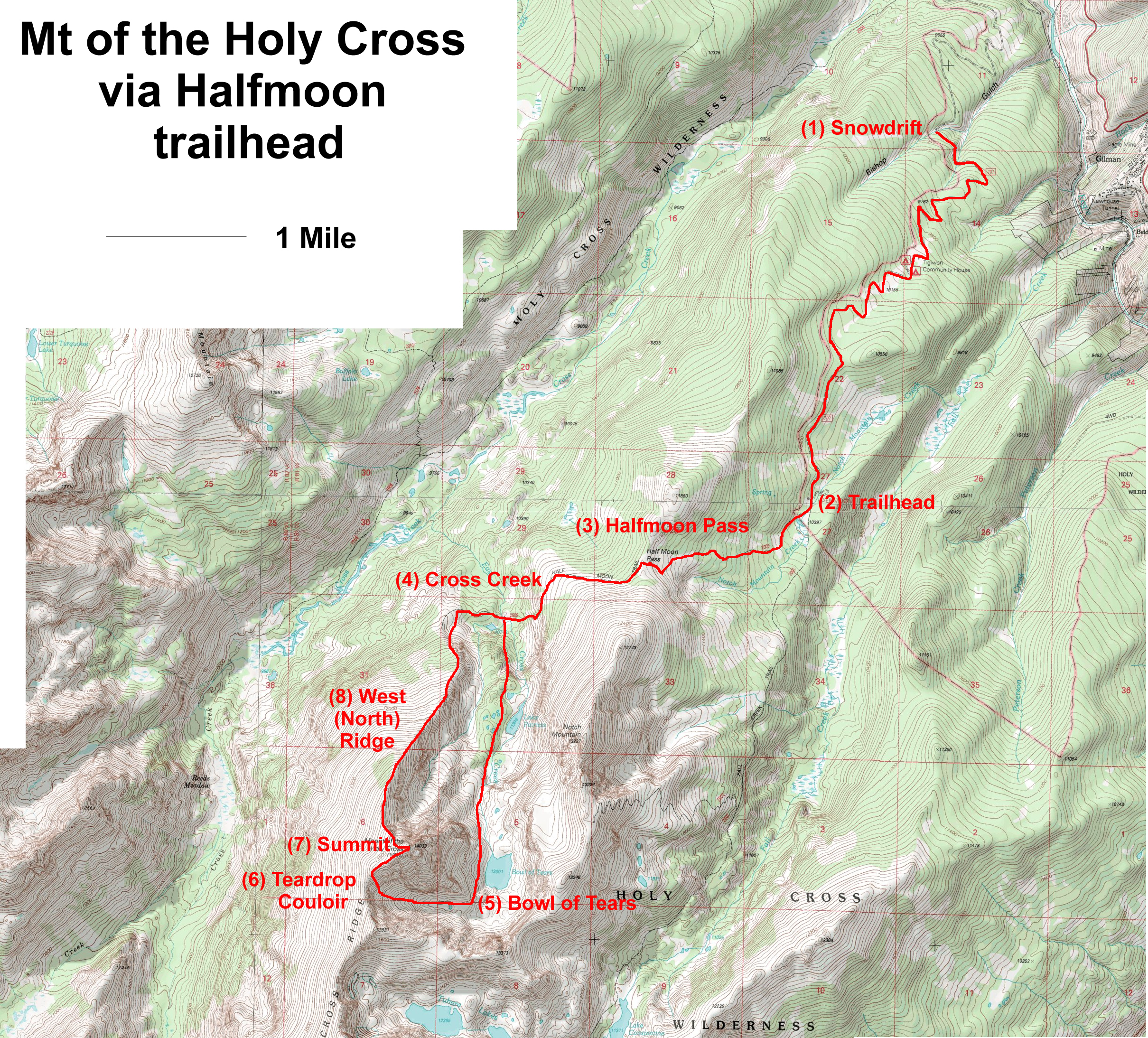 Crucified on Mount of the Holy Cross   PeakMind