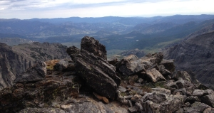 View of Estes Park from top of 3rd pitch