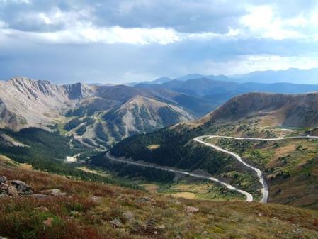 Hwy 6 descending from Loveland Pass toward A-Basin Ski Resort