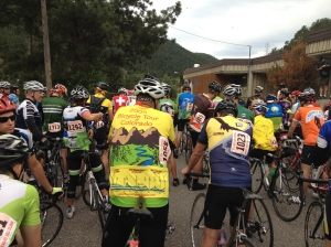 Awaiting the start of the Mt Evans HIll Climb Gran Fondo