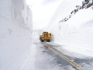 Trail Ridge Road being plowed in Spring (303 Cycling)